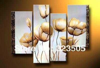 Bộ tranh hoa poppy Cali quyến rũ với ánh vàng lóng lánh.