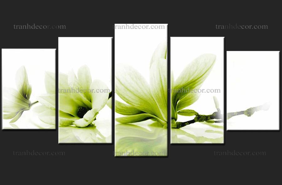 bộ tranh hoa mộc lan trắng khoe số 2.022.