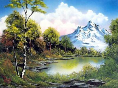 Tranh trang trí phong cảnh quê hương đẹp