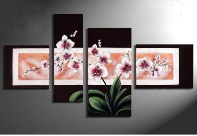 tranh bộ hoa lan