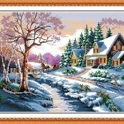 tranh-phong-canh-thien-nhien-mua-dong-tuyet-roi