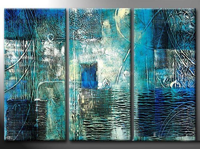 Tranh phong thủy trừu tượng Hành Thủy - 1.154