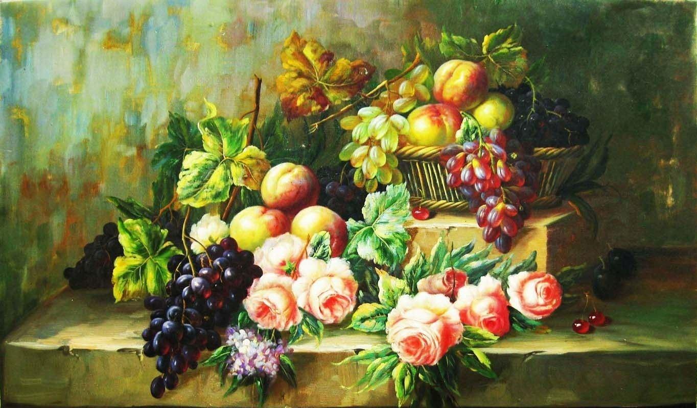 tranh sơn dầu phong cảnh mùa xuân