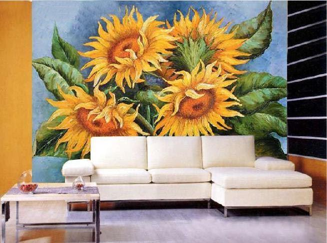 tranh phong thuy h3 hoa huong duong