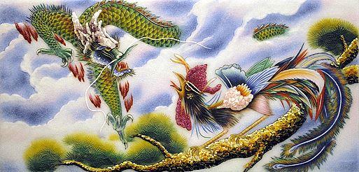tranh phong thuy long phuong 1
