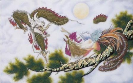 tranh phong thuy long phuong 2