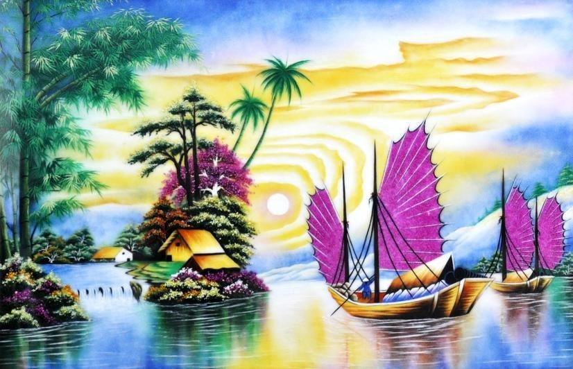 tranh phong thủy tranh da quy 2