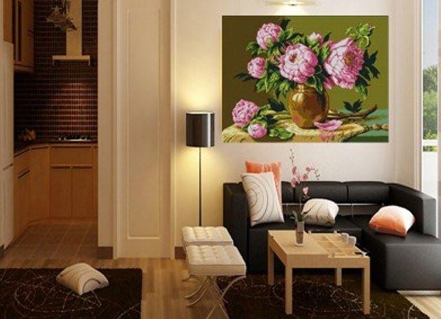 Tranh trang trí phòng khách sơn dầu