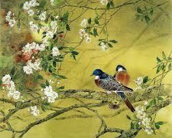 tranh phong thuy chim lien canh