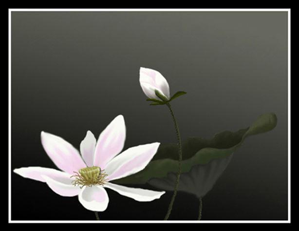 tranh son dau hoa sen