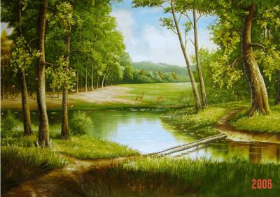 tranh son dau phong canh 3
