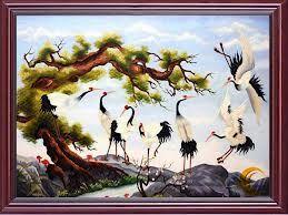 tranh trang tri chim hac
