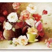 tranh trang tri hoa hong