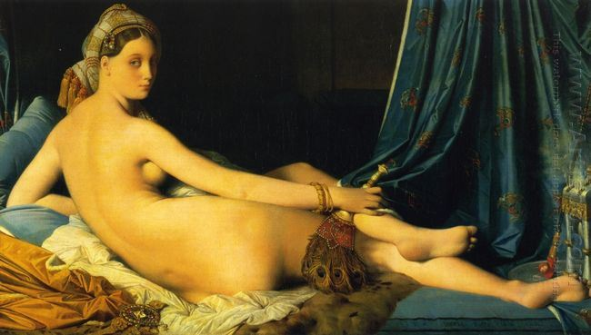 tranh-son-dau-grande odalisque