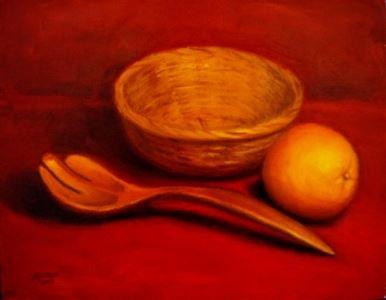 Tranh sơn dầu trang trí phòng ăn