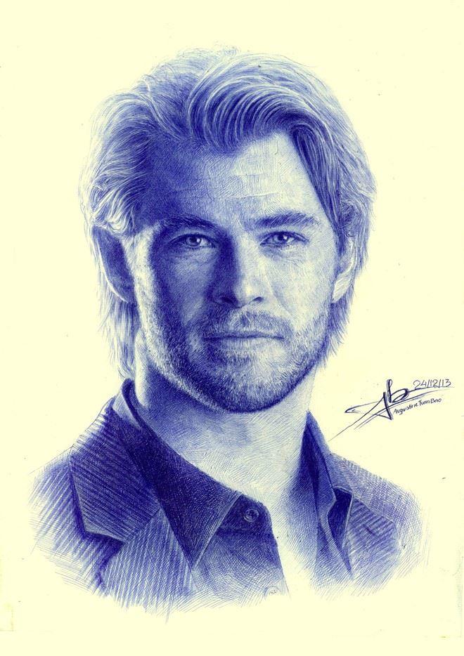 Tranh chan dung Chris Hemsworth