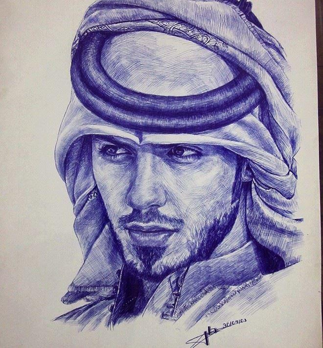 Tranh ve chan dung Omar Borkan Al Gala
