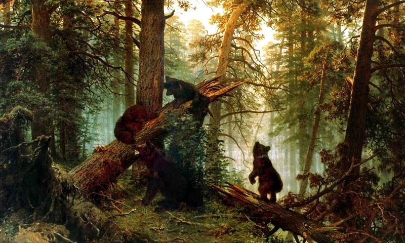 Morning in a Pine Wood hoa si Ivan Shishkin