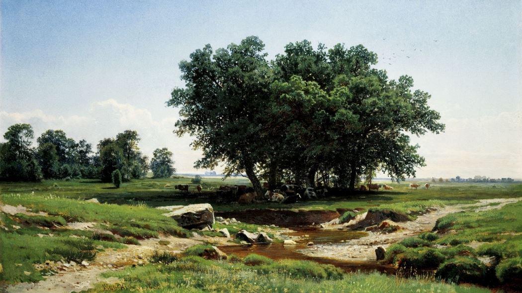 tranh phong cảnh đẹp Small Oak Tree